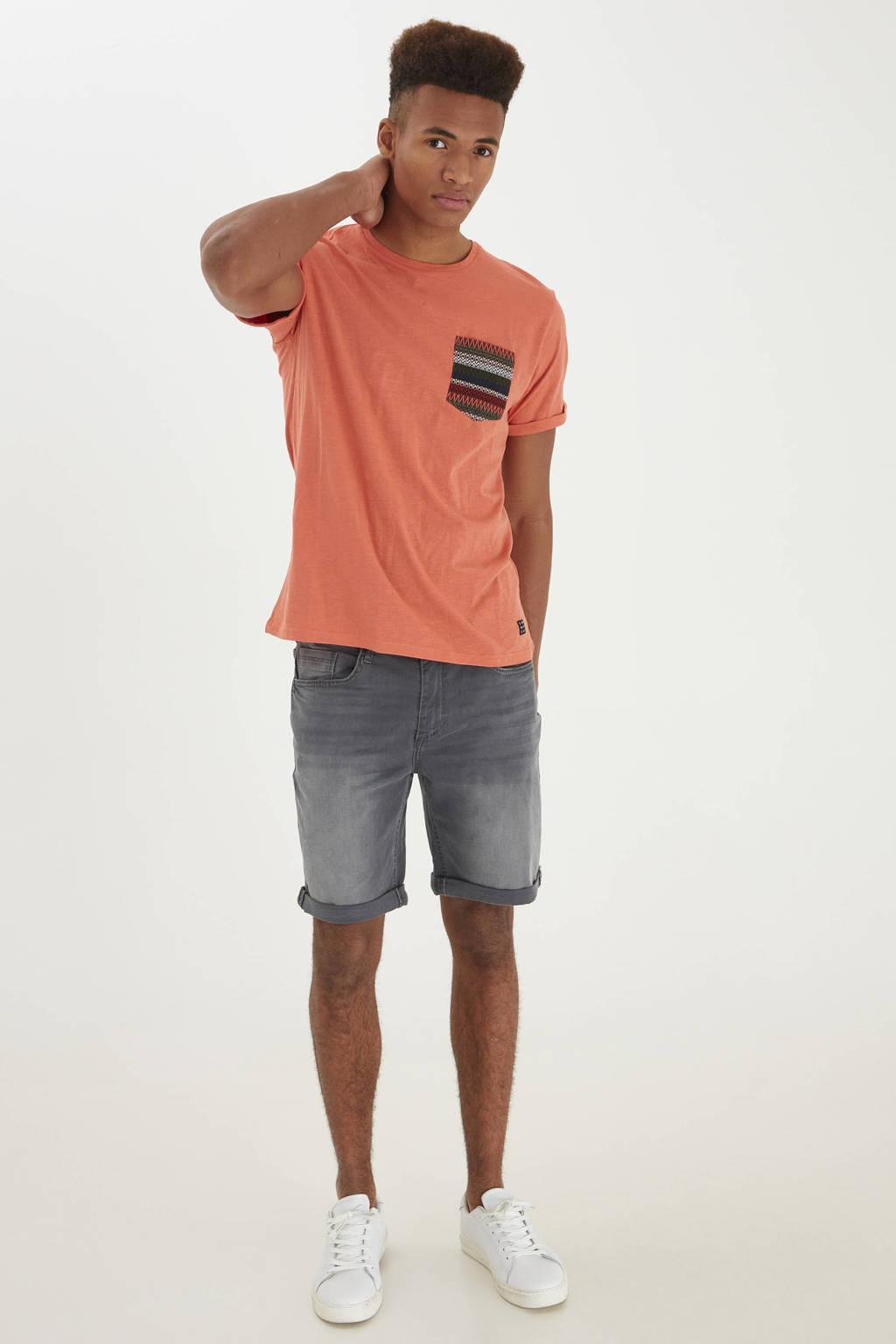 Blend regular fit jeans short grijs, Grijs