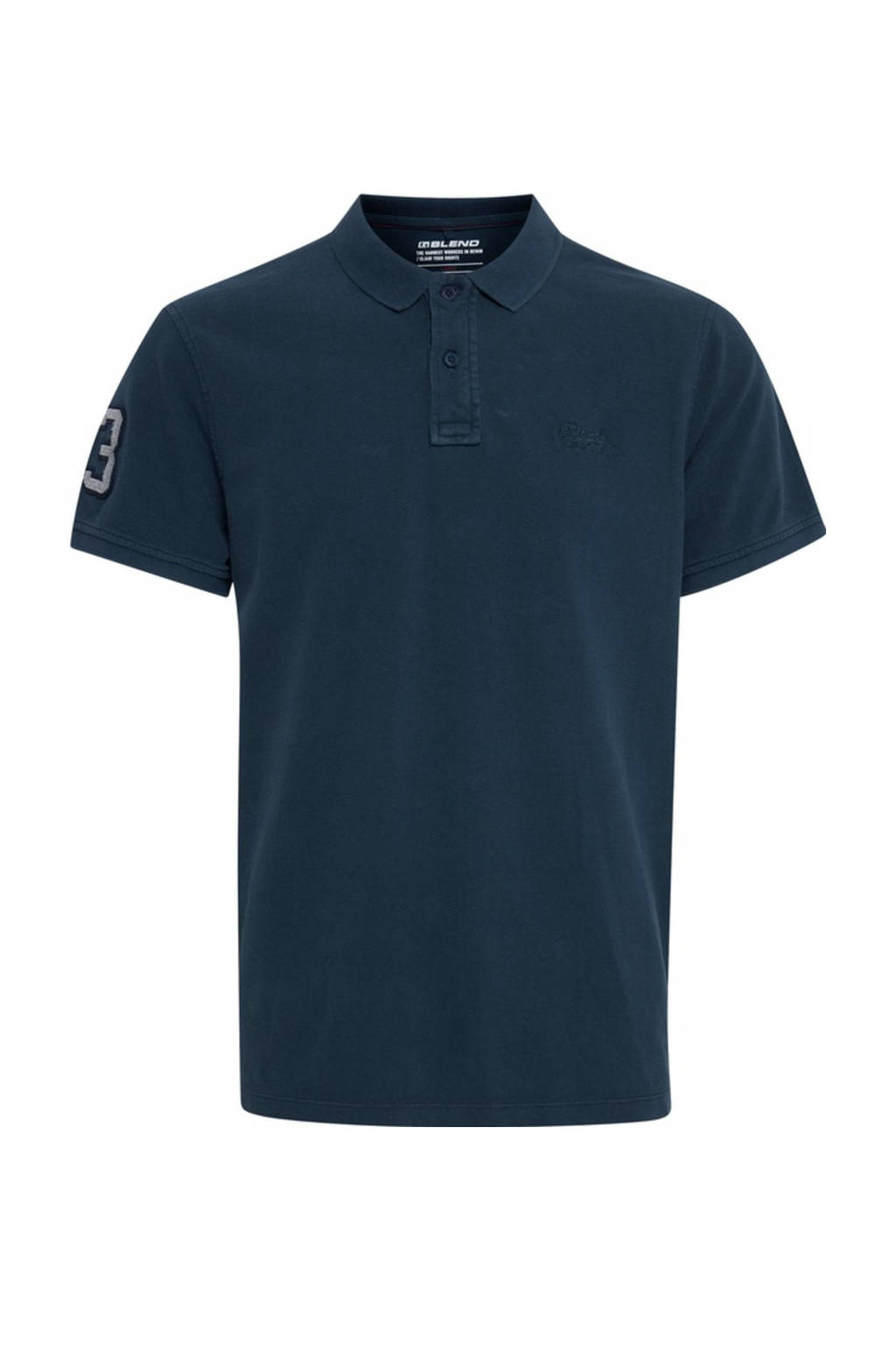 Blend regular fit polo donkerblauw, Donkerblauw