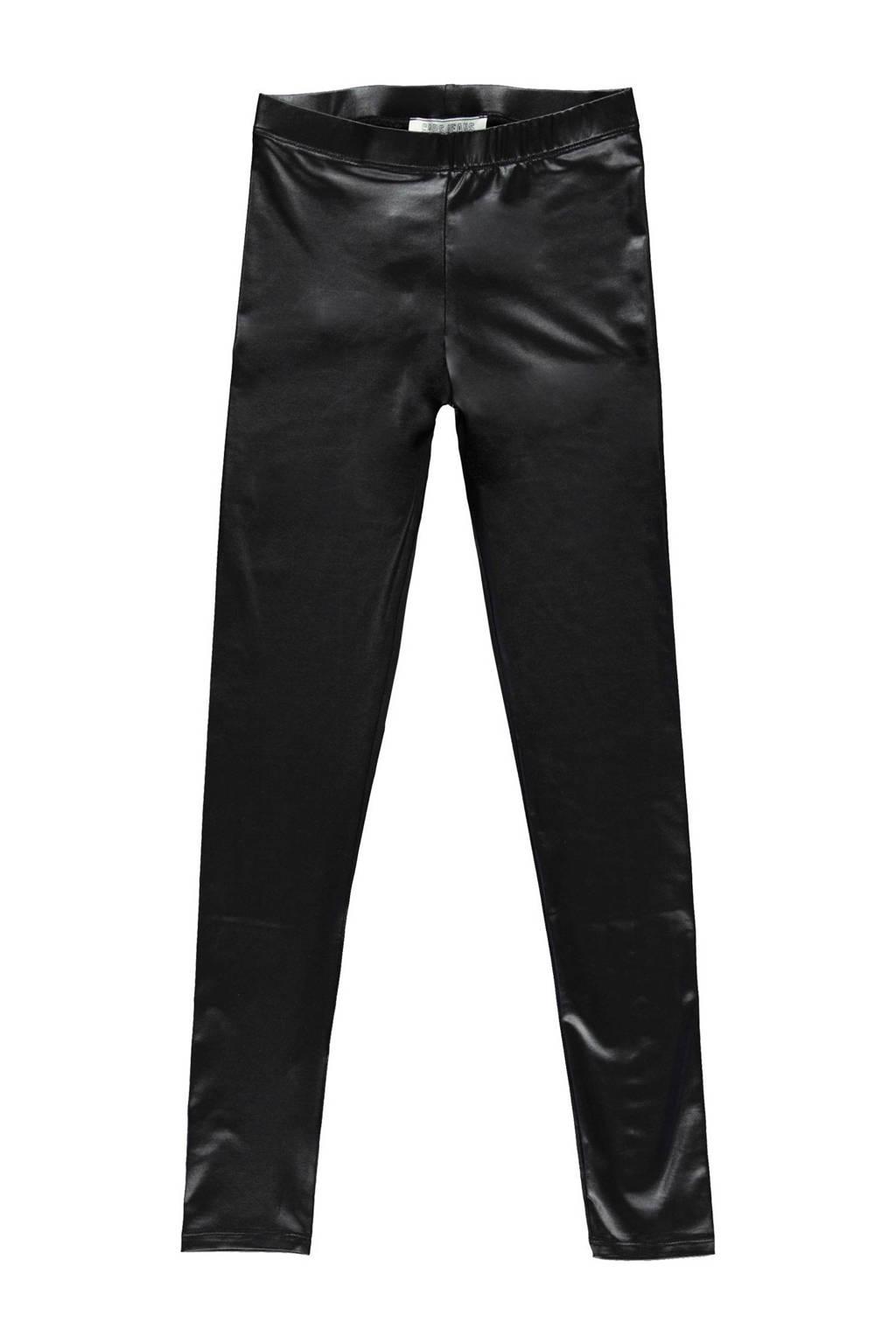 Cars imitatieleren high waist broek Santy zwart, Zwart