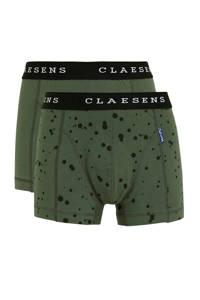Claesen's   boxershort - set van 2 groen/zwart, Groen/zwart