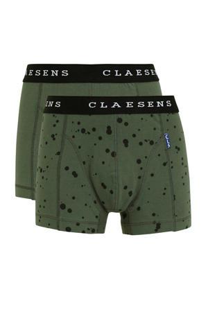 boxershort - set van 2 groen/zwart