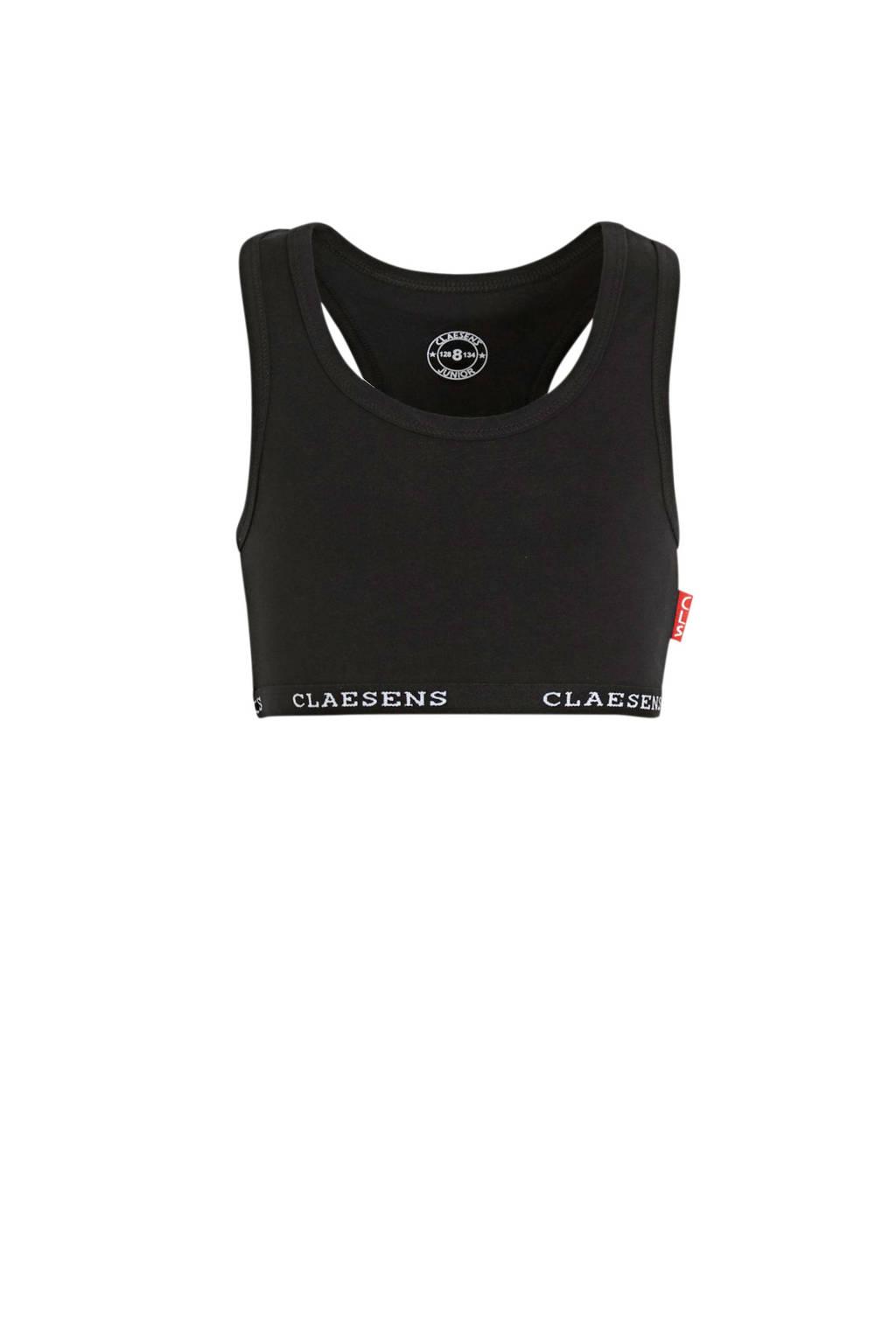 Claesen's bh top zwart, Zwart