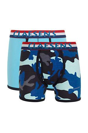 boxershort - set van 2 met all over print blauw