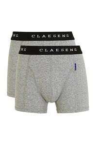 Claesen's   boxershort - set van 2 grijs melange/wit, Grijs melange/wit