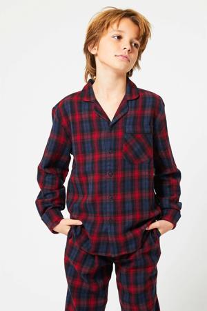pyjamatop Nathan donkerblauw/rood