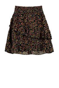 America Today Junior semi-transparante rok met all over print zwart/rood/geel, Zwart/rood/geel