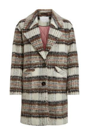 geruite coat grijs