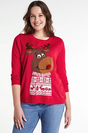trui met printopdruk rood