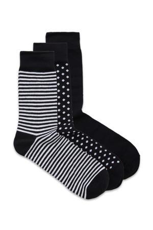 sokken giftbox  - set van 3 zwart