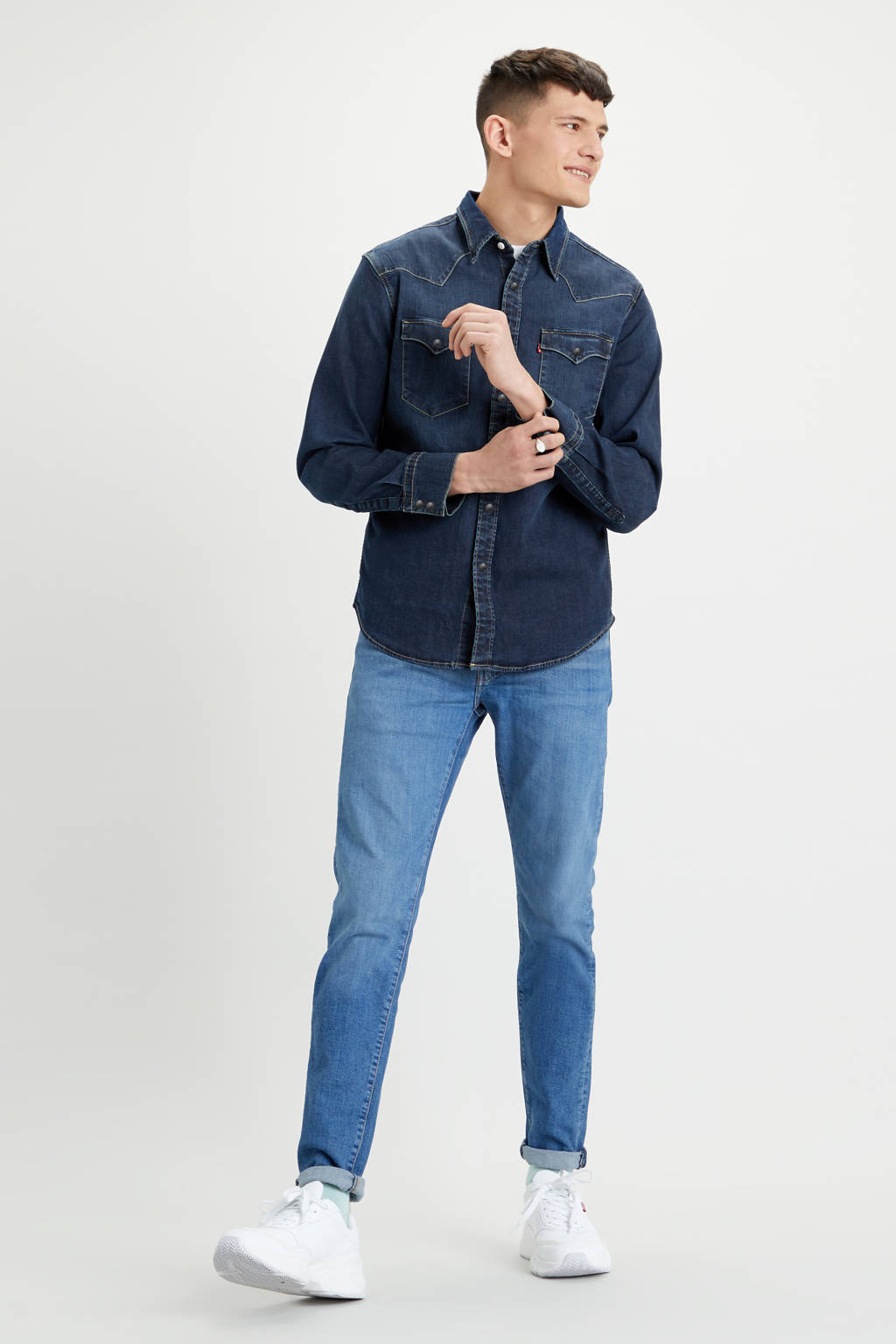 Levi's regular fit denim overhemd Bartsow dark denim, Dark denim