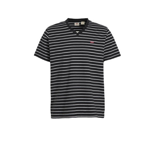 Levi's gestreept T-shirt zwart/wit