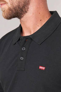 Levi's regular fit polo zwart, Zwart