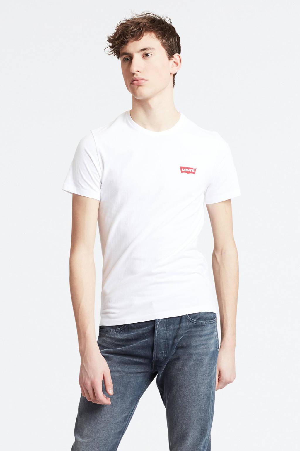 Levi's T-shirt grijs/wit, Grijs/wit