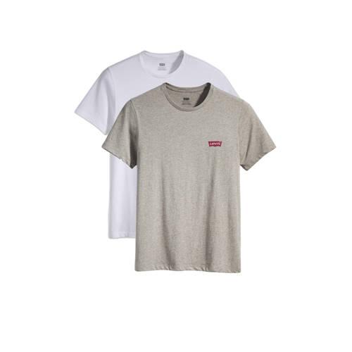 Levi's T-shirt grijs/wit (set van 2)