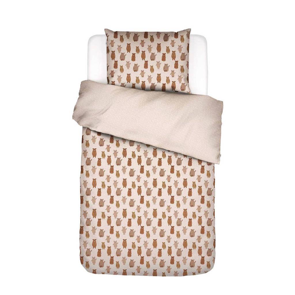 Covers & Co perkalkatoenen kinderdekbedovertrek, Bruin