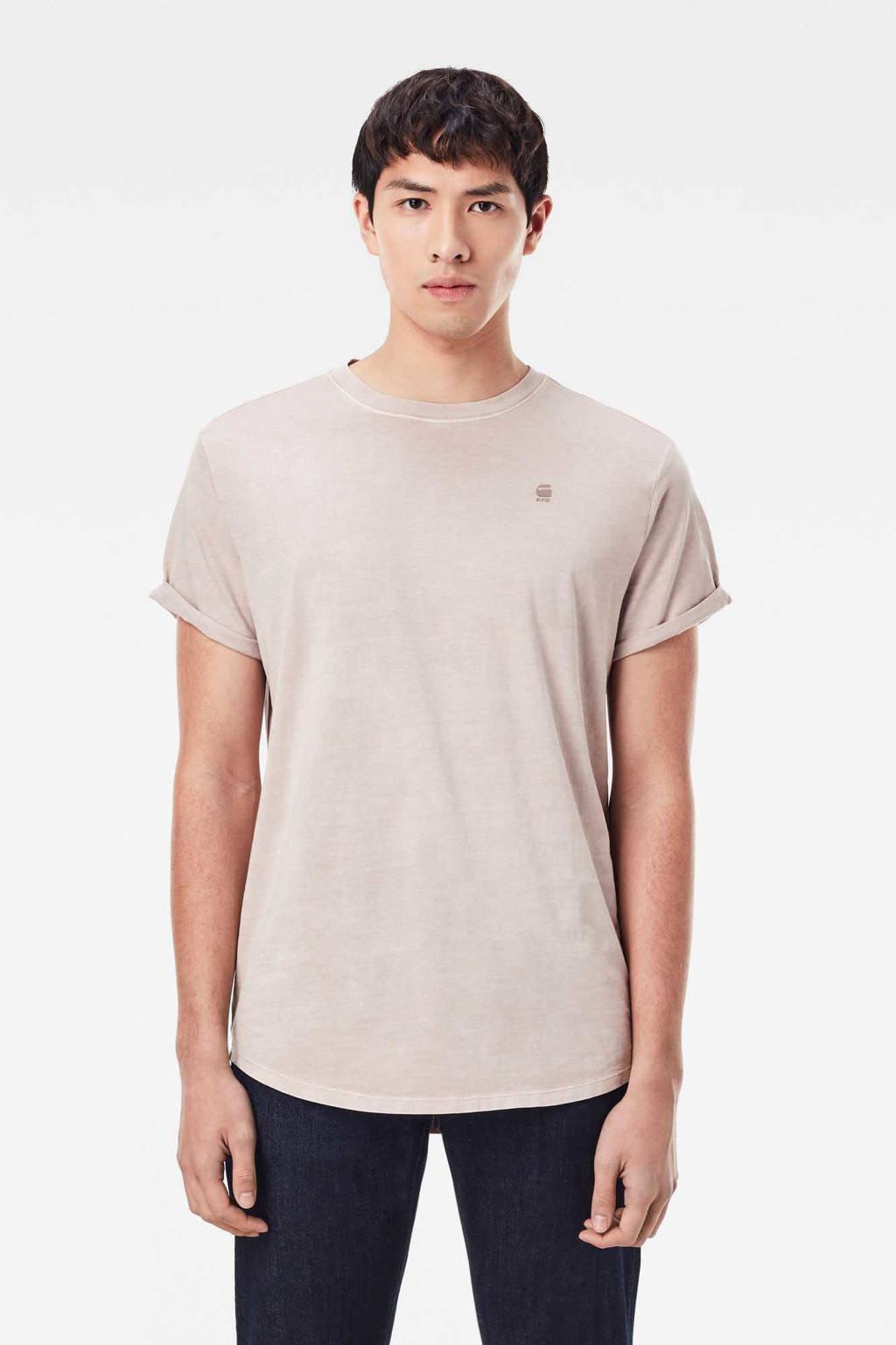 G-Star RAW T-shirt van biologisch katoen lichtroze, Lichtroze