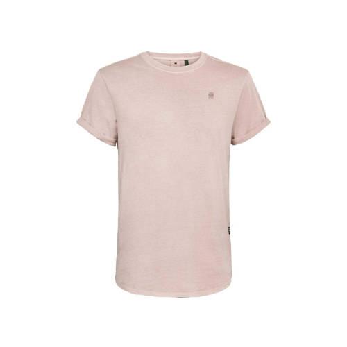 G-Star RAW T-shirt van biologisch katoen lichtroze