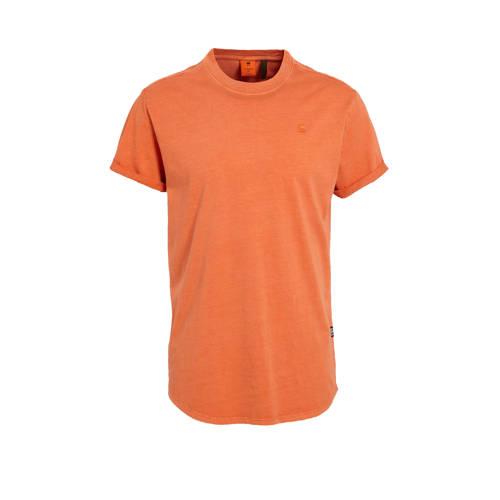 G-Star RAW T-shirt van biologisch katoen oranje