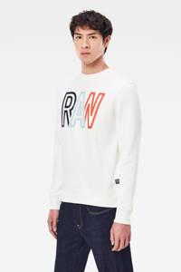 G-Star RAW sweater met biologisch katoen ecru, Ecru