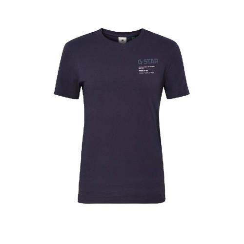 G-Star RAW T-shirt van biologisch katoen donkerblauw