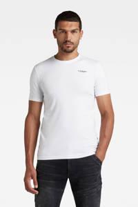 G-Star RAW T-shirt met biologisch katoen wit, Wit