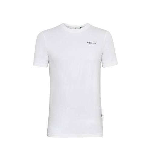 G-Star RAW T-shirt met biologisch katoen wit