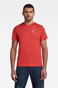 G-Star RAW T-shirt van biologisch katoen oranjerood, Oranjerood