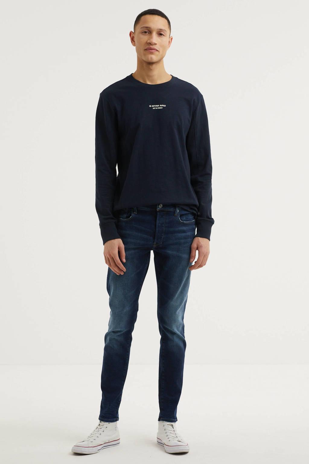 G-Star RAW 3301 slim fit jeans worn in dusk blue, Worn in dusk blue
