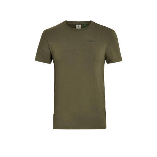 G-Star RAW T-shirt met biologisch katoen kaki
