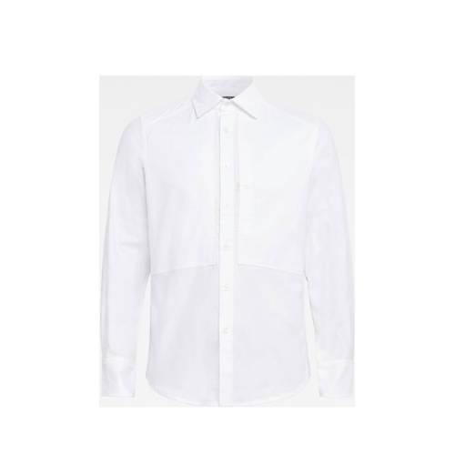 G-Star RAW slim fit overhemd van biologisch katoen wit