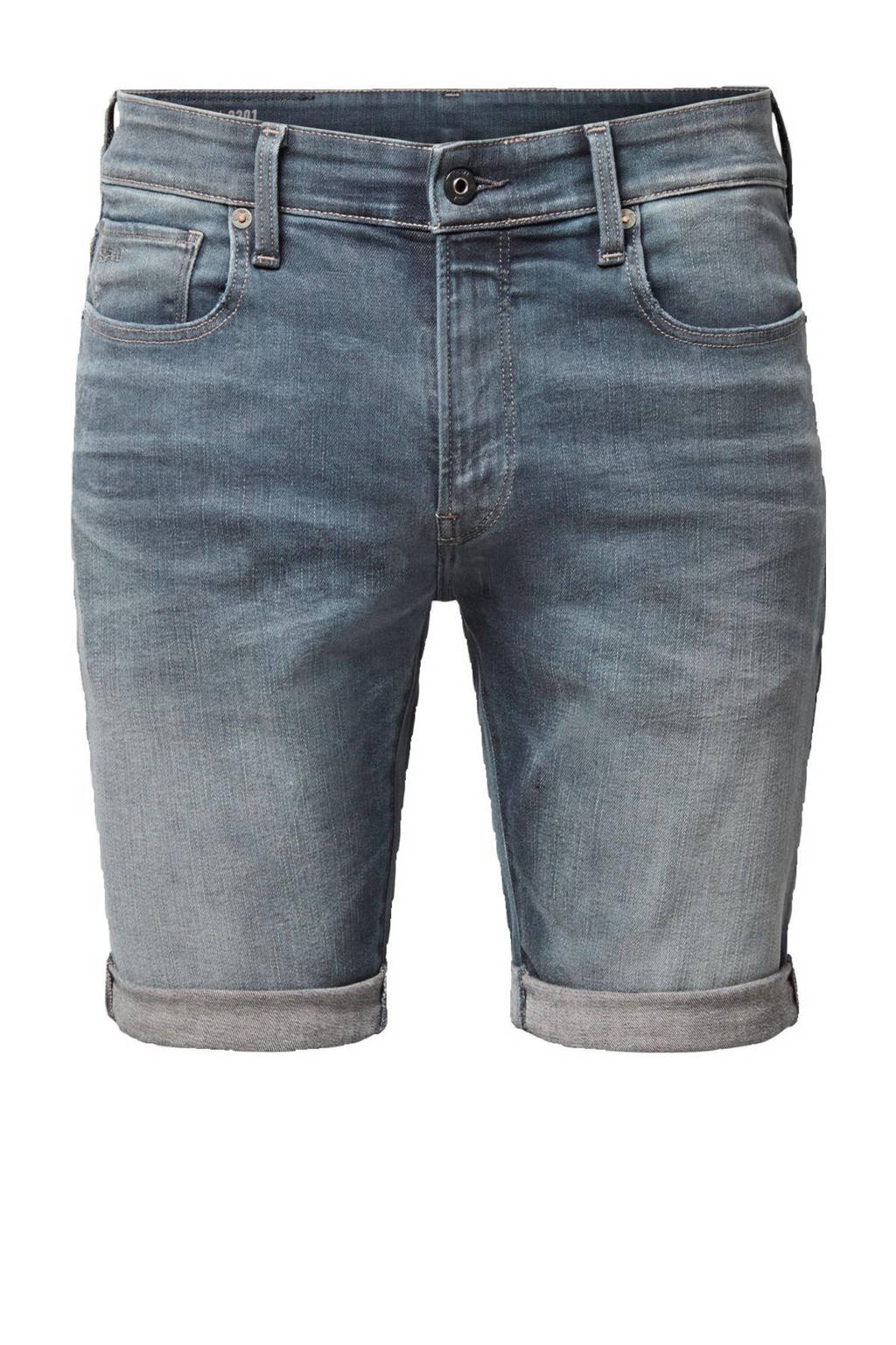 G-Star RAW 3301 slim fit jeans short worn in smokey night, Worn in smokey night