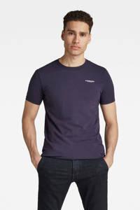 G-Star RAW T-shirt met biologisch katoen donkerblauw, Donkerblauw