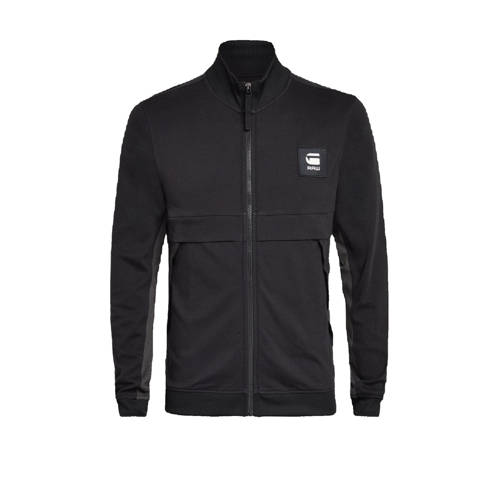 G-Star RAW vest Tweater van biologisch katoen zwart/grijs