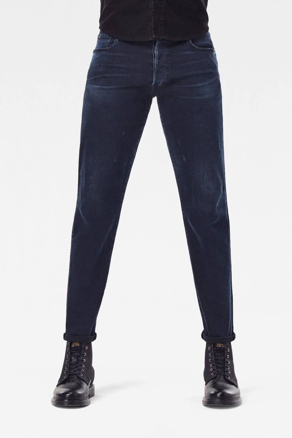 G-Star RAW 3301 slim fit jeans worn in eve destroyed, Worn in eve destroyed