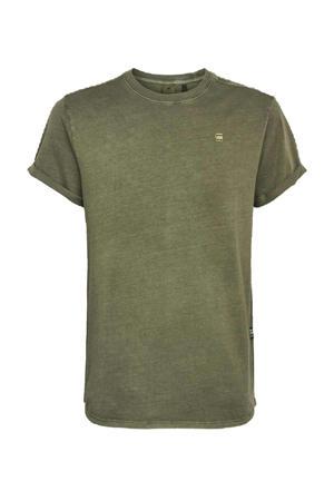 T-shirt van biologisch katoen kaki