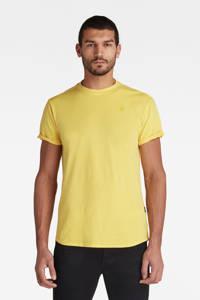 G-Star RAW T-shirt Lash van biologisch katoen lichtgeel, Lichtgeel