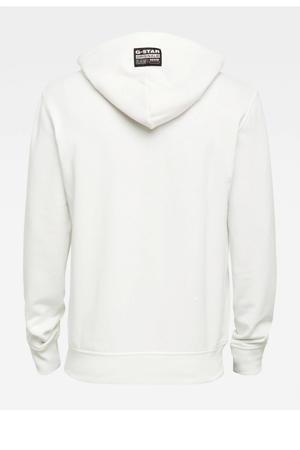 hoodie met biologisch katoen wit