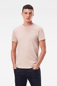 G-Star RAW T-shirt met biologisch katoen lichtroze, Lichtroze