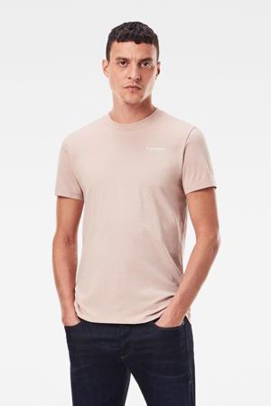 T-shirt met biologisch katoen lichtroze