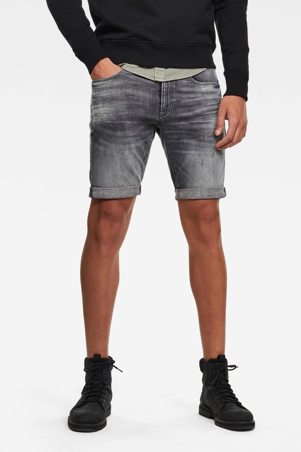 G-Star RAW 3301  slim fit jeans short grijs, Grijs