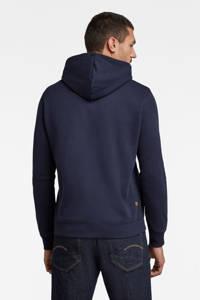 G-Star RAW hoodie donkerblauw, Donkerblauw