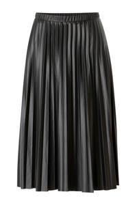 Yest imitatieleren rok Aiko zwart, Zwart