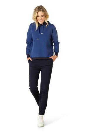 fijngebreide trui Adela blauw/zwart