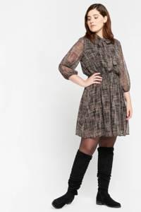 LOLALIZA jurk met all over print bruin, Bruin