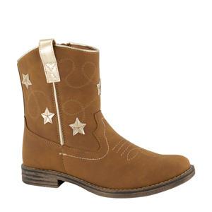 cowboylaarzen met sterren bruin/goud