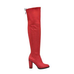 overknee laarzen rood