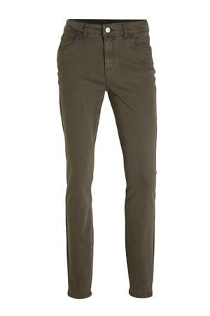 skinny jeans olijfgroen
