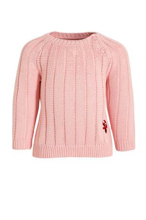 baby trui van biologisch katoen roze
