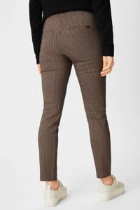 C&A slim fit broek met all over print bruin, Bruin