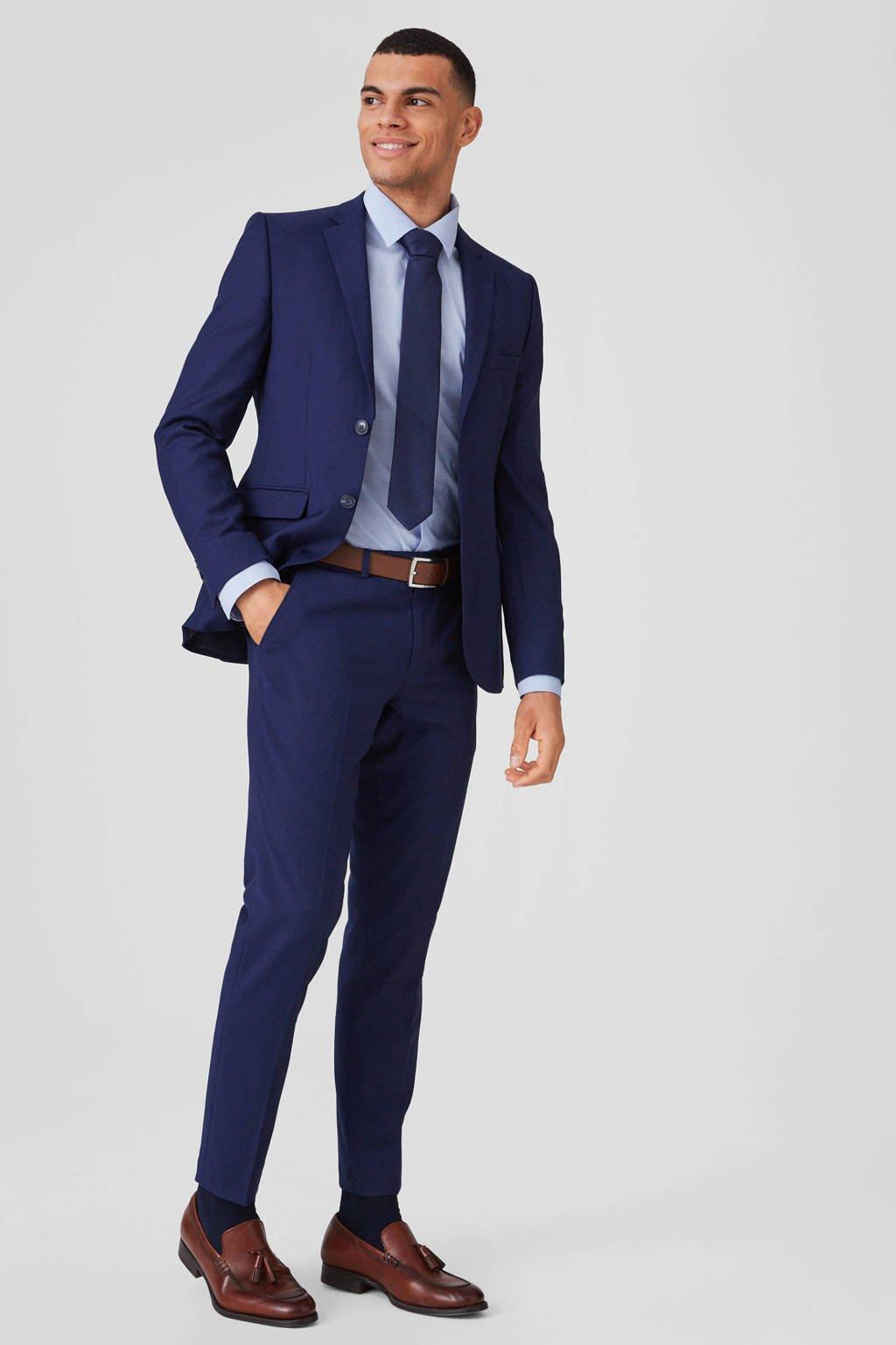 C&A Angelo Litrico slim fit kostuum kobaltblauw, Kobaltblauw